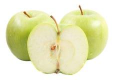 Delen van een groene appel Royalty-vrije Stock Afbeelding