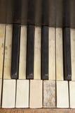 Oud pianotoetsenbord stock foto's