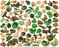Delen van inhoud van aromatisch sachet van gekleurde droge delen van Stock Afbeelding