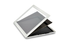 Delen van tablet Stock Foto's