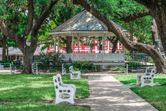 DeLeon Plaza bandstand in downtown Victoria Texas Stock Photo