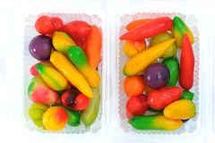 Deletable imitation fruits Stock Images