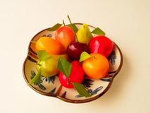 Deletable imitation fruits stock image