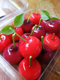 Deletable Imitation Fruits Kanom Look Choup Stock Photos