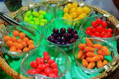 Deletable Imitation Fruits (Kanom Look Choup) Stock Images