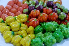Deletable Imitation Fruits stock photos
