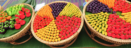 Deletable imitation fruits(Thai dessert). Look Choup is thai sweet, deletable imitation fruits Royalty Free Stock Photography