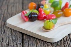 Deletable imitation fruits, Thai dessert, star gooseberry Stock Image