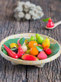 Deletable imitation fruits, Thai dessert Royalty Free Stock Photography