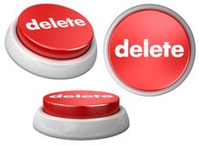 delete кнопки иллюстрация вектора