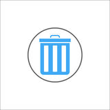 Delete and bin solid icon, mobile sign and garbage Royalty Free Stock Photography