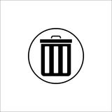 Delete and bin solid icon, mobile sign and garbage Royalty Free Stock Images