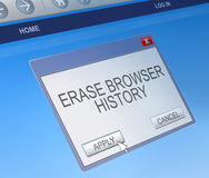 Delete browsing history concept. Stock Photos