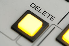 Delete button. A delete button at a professionell broadcast vcr Royalty Free Stock Photography
