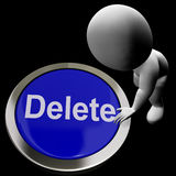 Delete Button For Erasing Or Deleting Trash Stock Photo