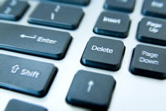 Delete button keyboard Royalty Free Stock Photo