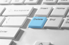Delete button on a keyboard Royalty Free Stock Photography