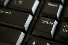 Delete button. Keyboard of computer Stock Image