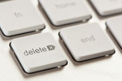 Delete button on a White and Grey Computer Keyboard Stock Image