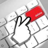 Delete computer key Stock Photos