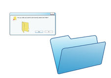 Delete folder Royalty Free Stock Photos