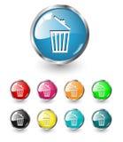 Delete icons set Royalty Free Stock Photos