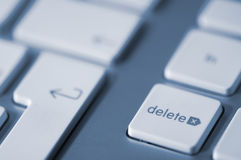 Delete key. On the keyboard of a computer Stock Images