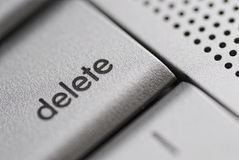 Delete key Royalty Free Stock Photo