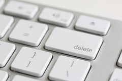 Delete Key Royalty Free Stock Photography