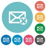 Delete mail flat icons