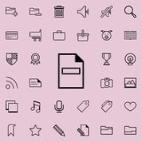 Delete a sheet icon. Detailed set of minimalistic icons. Premium graphic design. One of the collection icons for websites, web des. Ign, mobile app on colored Royalty Free Stock Photography