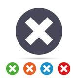 Delete sign icon. Remove button. Stock Photography
