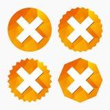 Delete sign icon. Remove button. Stock Image