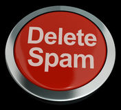 Delete Spam Button For Removing Unwanted Email Stock Image