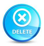 Delete splash natural blue round button. Delete isolated on splash natural blue round button abstract illustration stock illustration