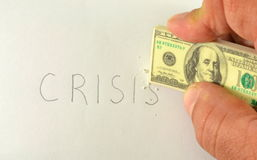 Delete the word crisis Royalty Free Stock Images