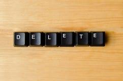 Delete word Stock Photo