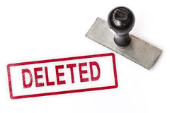Deleted text word stamp. Royalty Free Stock Photos