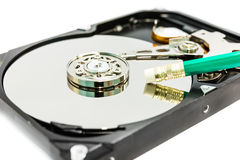 Deleting data from the harddisk Royalty Free Stock Photo