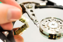 Deleting data from the harddisk. Deleting data to harddisk, show the process Stock Photos