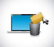 Deleting files from computer. illustration design Stock Photos