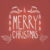Deletreado de la Feliz Navidad Foto de archivo libre de regalías