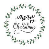 Deletreado de la Feliz Navidad Fotos de archivo libres de regalías