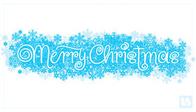 Deletreado de la mano de la Feliz Navidad () Fotos de archivo libres de regalías