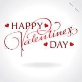 Deletreado de la mano de las tarjetas del día de San Valentín () ilustración del vector