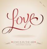 Deletreado de la mano del ?amor? () Foto de archivo libre de regalías