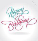 Deletreado de la mano del ?feliz cumpleaños? (vector) Fotografía de archivo libre de regalías