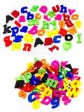 Deletreo colorido de las letras de la pila del alfabeto Imagen de archivo libre de regalías