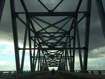 Deleware桥梁海湾和天空 免版税库存图片