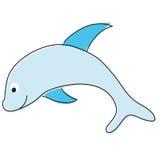 Delfín de la historieta stock de ilustración